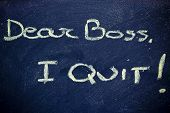 picture of quit  - chalk writings on blackboard - JPG