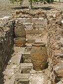stock photo of minos  - Ancient ruins at palace of Knossos of Minoan Crete Island Greece - JPG