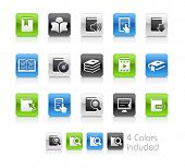 Book Icons / The file Includes 4 color versions in different layers.