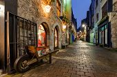 image of wheelbarrow  - Old street in Galway Kerwan