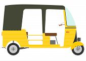 stock photo of rickshaw  - The three - JPG