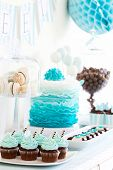 stock photo of ombre  - Dessert table - JPG