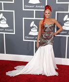 LOS ANGELES - FEB 10:  Bonnie McKee arrives to the Grammy Awards 2013  on February 10, 2013 in Los A