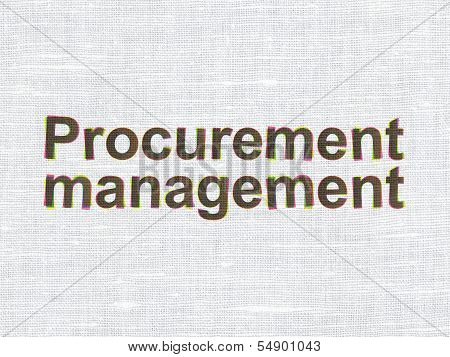 Business concept: Procurement Management on fabric texture