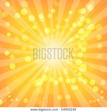 Bokeh Abstract Lights On Sunburst Pattern