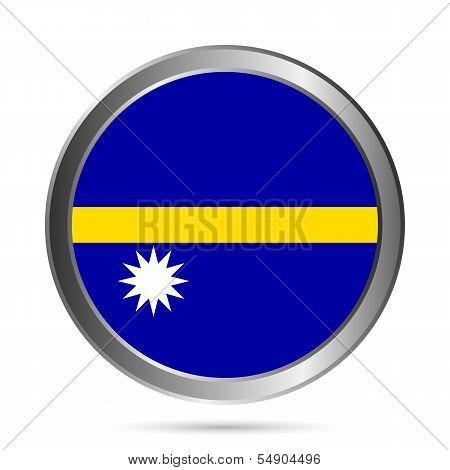 Nauru Flag Button.