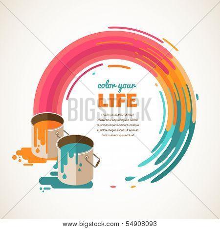 Design, creative, idea and color concept