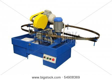 Thye image of a woodworking band-saw
