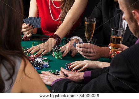 Poker Game In Progress