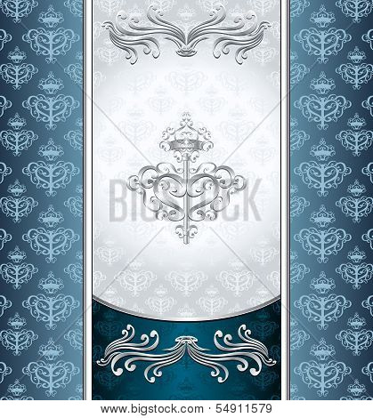 Royal Victorian background with seamless pattern