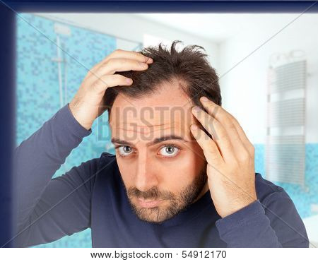 Man Controls Hair Loss