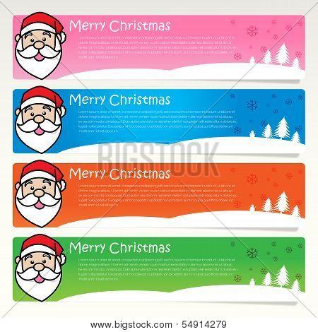 Inphographic Santa Christmas Tag