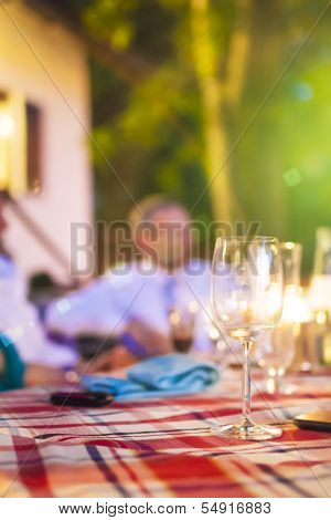 Blurred Silhuette Of A Mid-aged Man