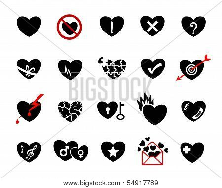 Love Concept  Icon Set