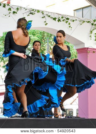 Flamenco dancers, Marbella, Spain.
