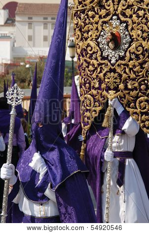 Holy week procession, Malaga, Spain.