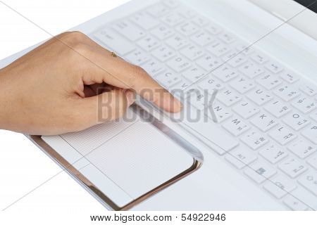 Finger Pushing The Space Bar Button