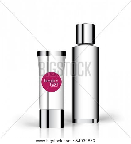Cosmetics packaging, vector illustration.