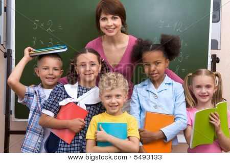 Pupils And Teacher