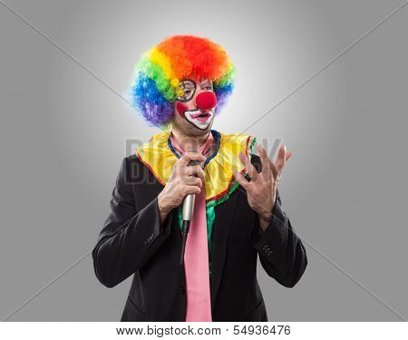 Clown in a business suit