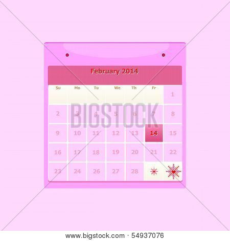 Design Schedule Monthly February 2014 Calendar