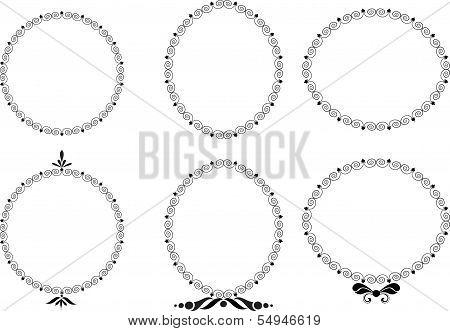Set Of Oval Frames
