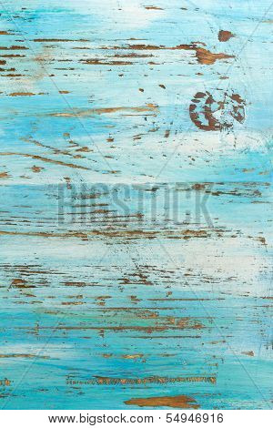 Blue painted rustic wood background