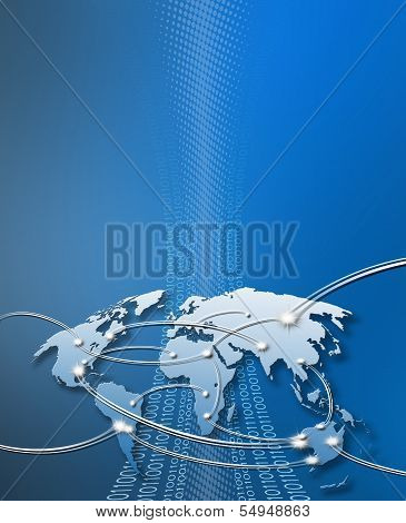 Internet Concept Blue Cover With Copyspace
