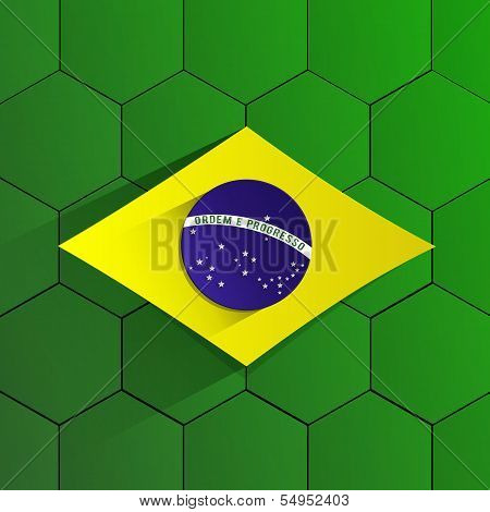 Brazil Football Team Flag