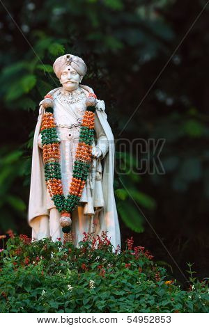 Statue Of Chama Raja Wadiyar The 10Th In Bangalore.