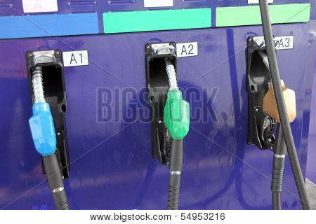 Refueling Equipment In Gas Station.