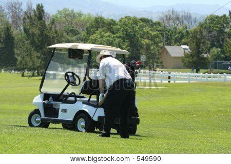 Golfer auf Hill