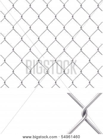 Chain Fence. Pattern for continuous replicate
