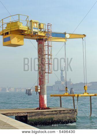 Venice, Italy Boat Crane