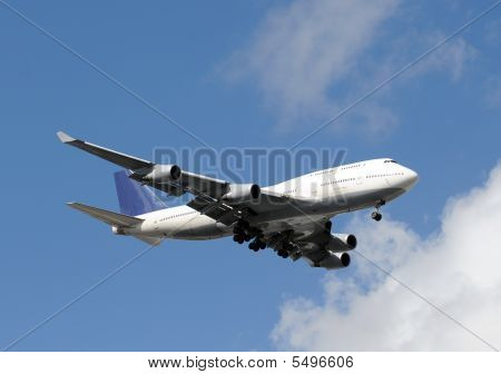 Jumbo Jet In Flight