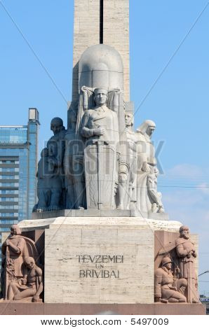 Monument Of Liberty In Riga