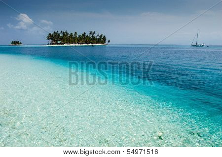Isla Diablo In The San Blas Archipelago Off The Caribbean Coast Of Panama