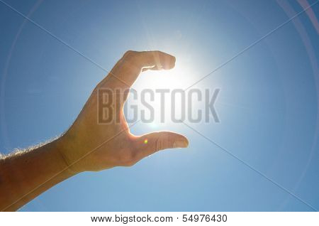One Hand Catching the Sun