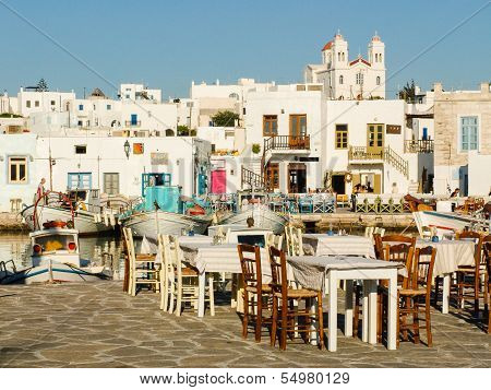 Greek Tavern At The Harbour