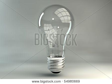 Light Bulb In Studio