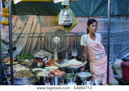 Street food at the night market in Hua Hin