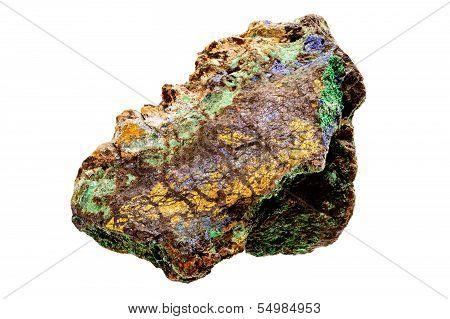 Bornite And Brochantite Mineral Sample