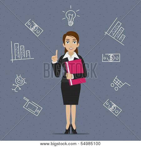 Businesswoman business idea