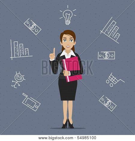 Businesswoman business idea