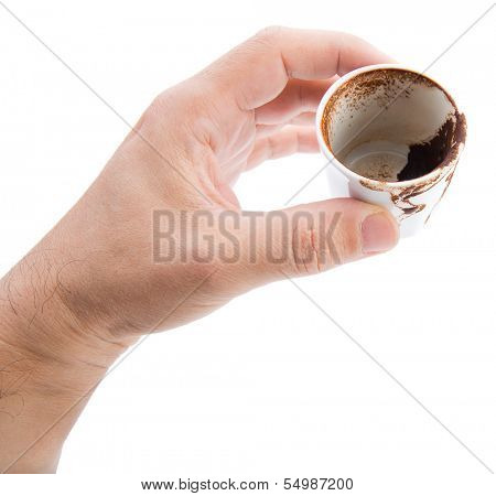 Cup of Turkish coffee traditionally used for fortune telling