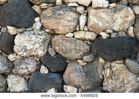Retaining Wall From A Natural Stone