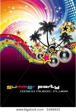 Disco Dance Background with High Contrast Colors