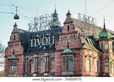 Tivoli Park In  Copenhagen, Denmark