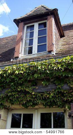 French Farmhouse Window & Shutters