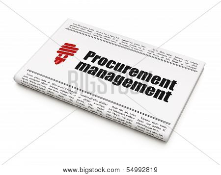 Business concept: newspaper with Procurement Management